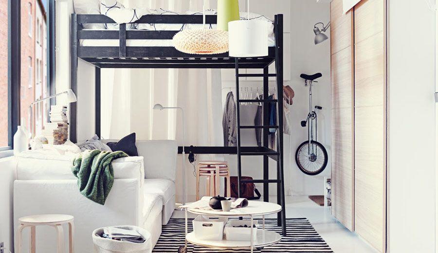 Los espacios reducidos requieren de soluciones inteligentes que hagan que vivir en ellos sea cómodo, divertido y sencillo.    www.IKEA.islas.es