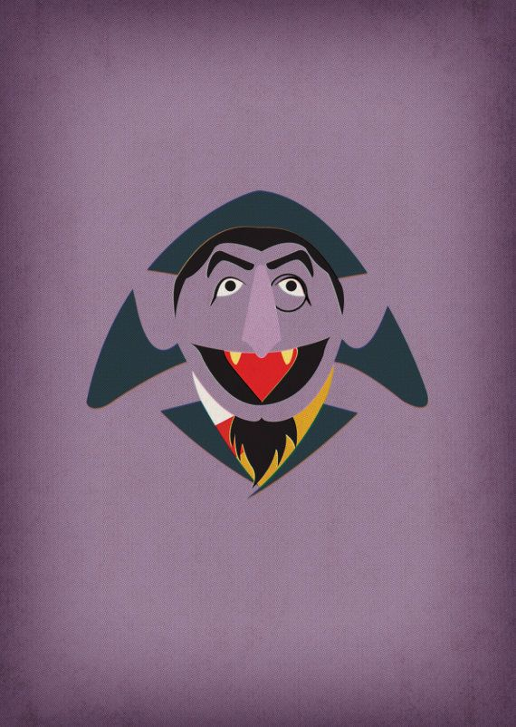 Sesame Street Character Count Von Count Minimalist By