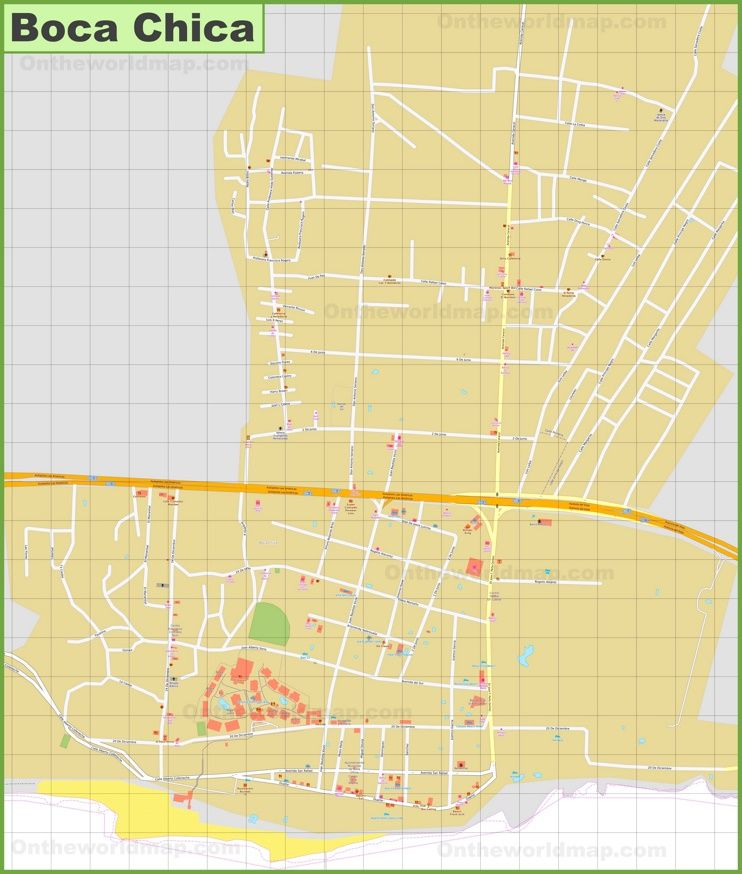 Large detailed map of Boca Chica Maps Pinterest Boca chica