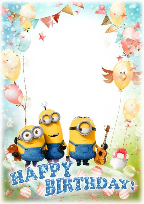 Image Result For Minion With Camera Happy Birthday Template