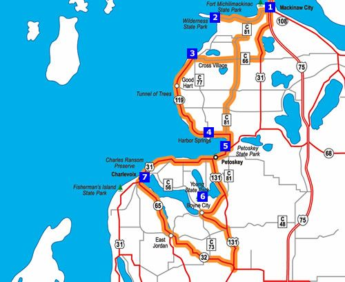 Mackinaw City - Petoskey - Charlevoix road trip... Tunnel of ... on tawas map, united states map, st. ignace map, ironwood map, kalkaska map, cheboygan map, sault ste. marie map, petoskey state park map, gaylord map, dearborn map, holt mi map, port of indiana map, city of petoskey street map, canon city riverwalk trail map, mackinac island map, mackinac county map, michigan map, superior map, peninsula township map, ypsilanti map,