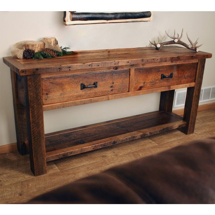 Old Sawmill Timber Frame Sofa Table Rustic Sofa Tables Rustic