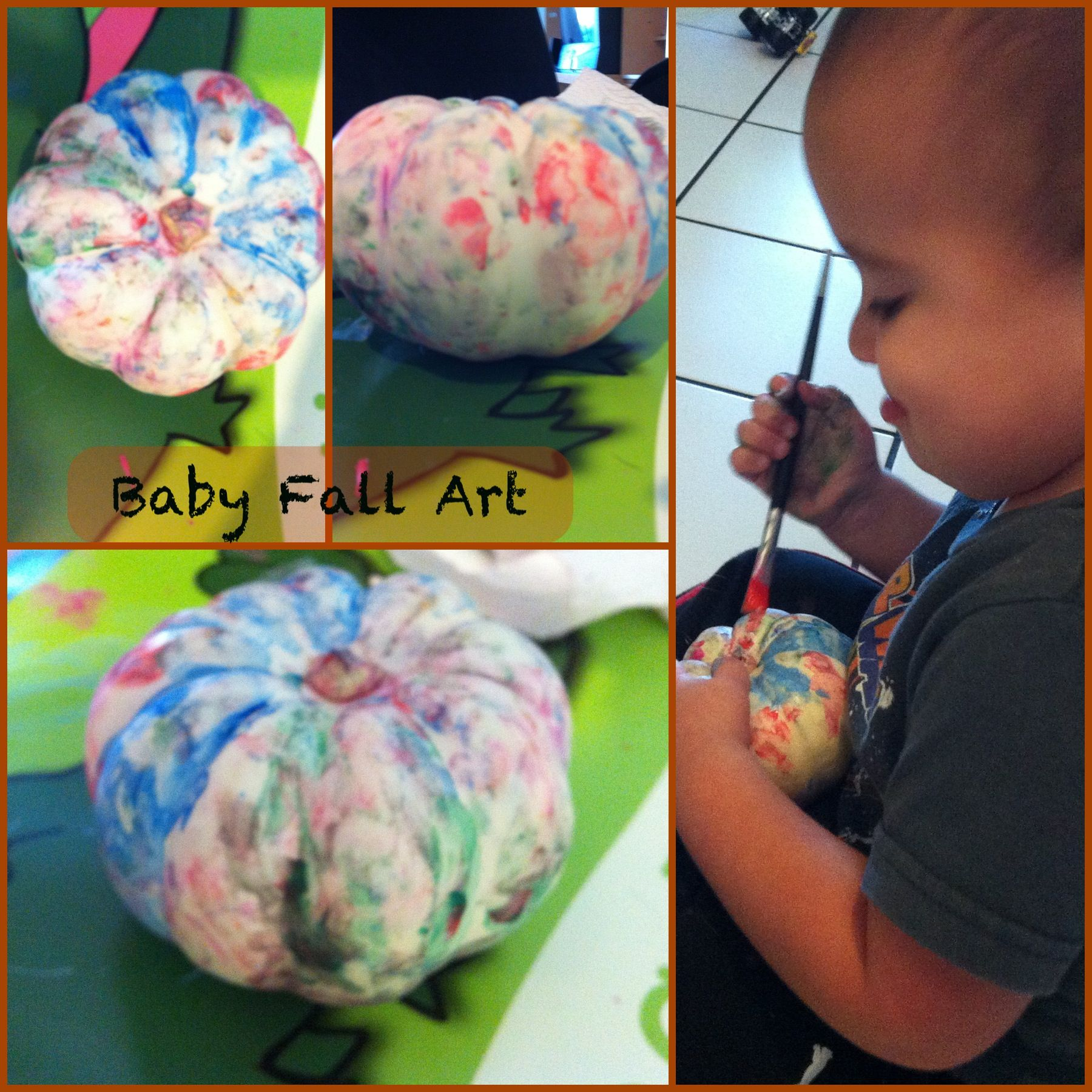 Creative Arts Activity For Toddlers Preschoolers Painting Pumpkins Squash Physical Intellectual