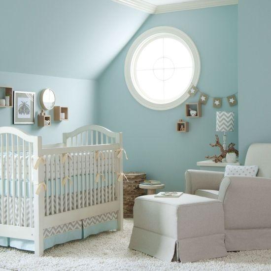Blaue Wände-Baby Korb für Kinder Kinderzimmer Pinterest