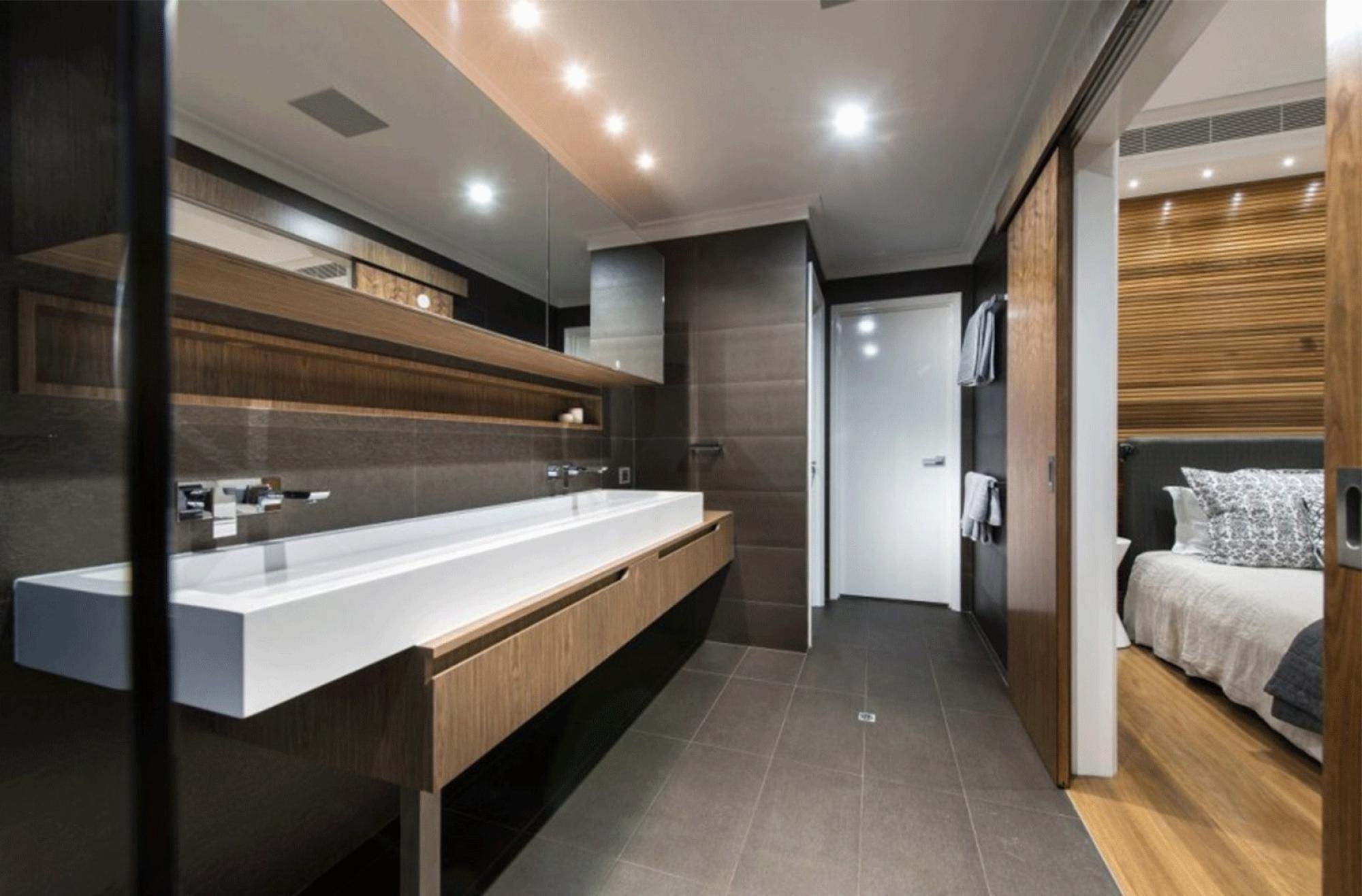 Adorable Modern Design In Bathroom Including Bright