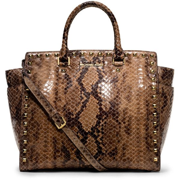 33764662f65e ... saffiano leather satchel tradesy a4663 3f638; netherlands michael  michael kors large selma snake print tote found on polyvore 0710d c770b