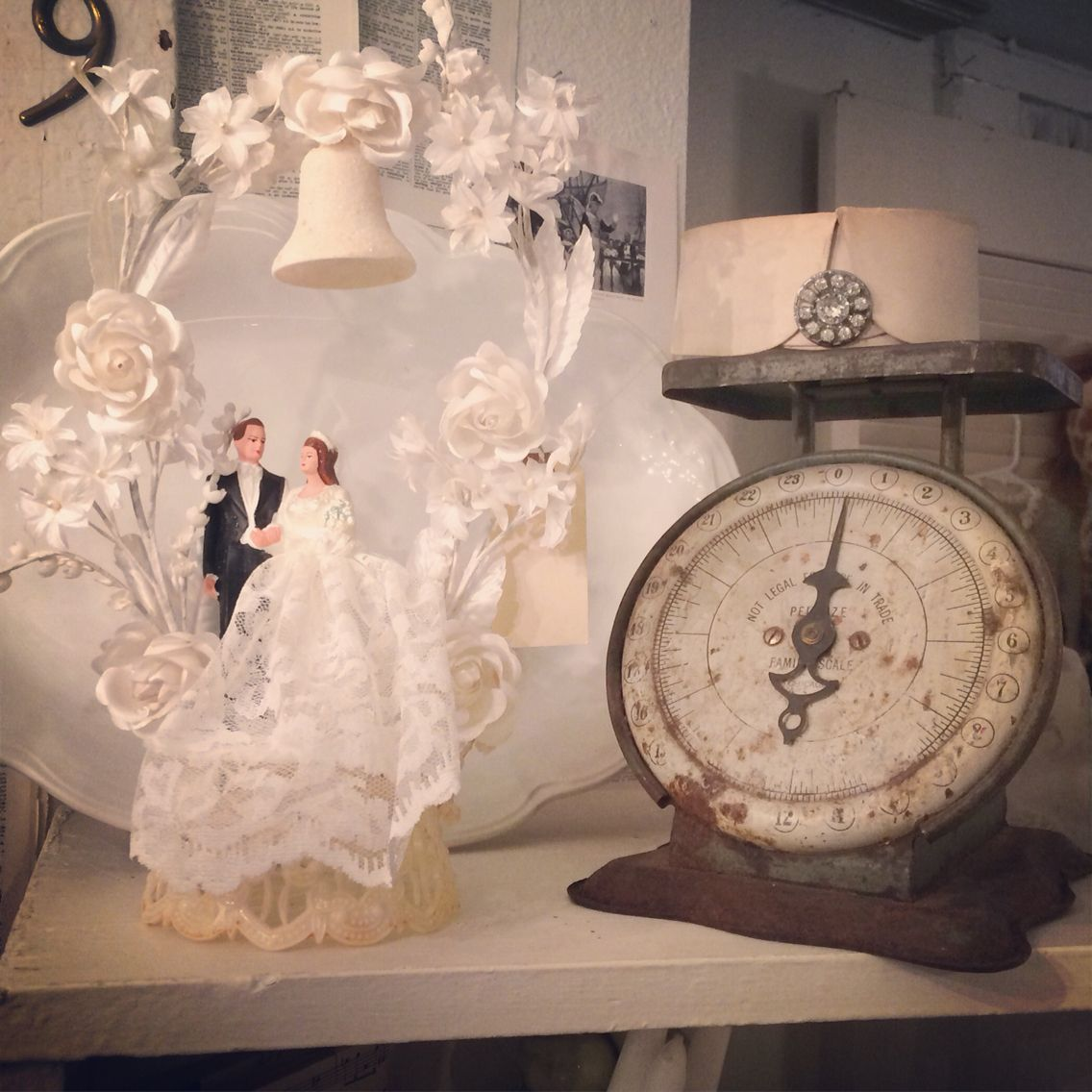 Vintage scale old wedding cake topper for the home pinterest