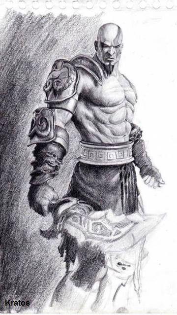 Trazos Dibujos De Kratos Arte De Personajes Personajes De Terror