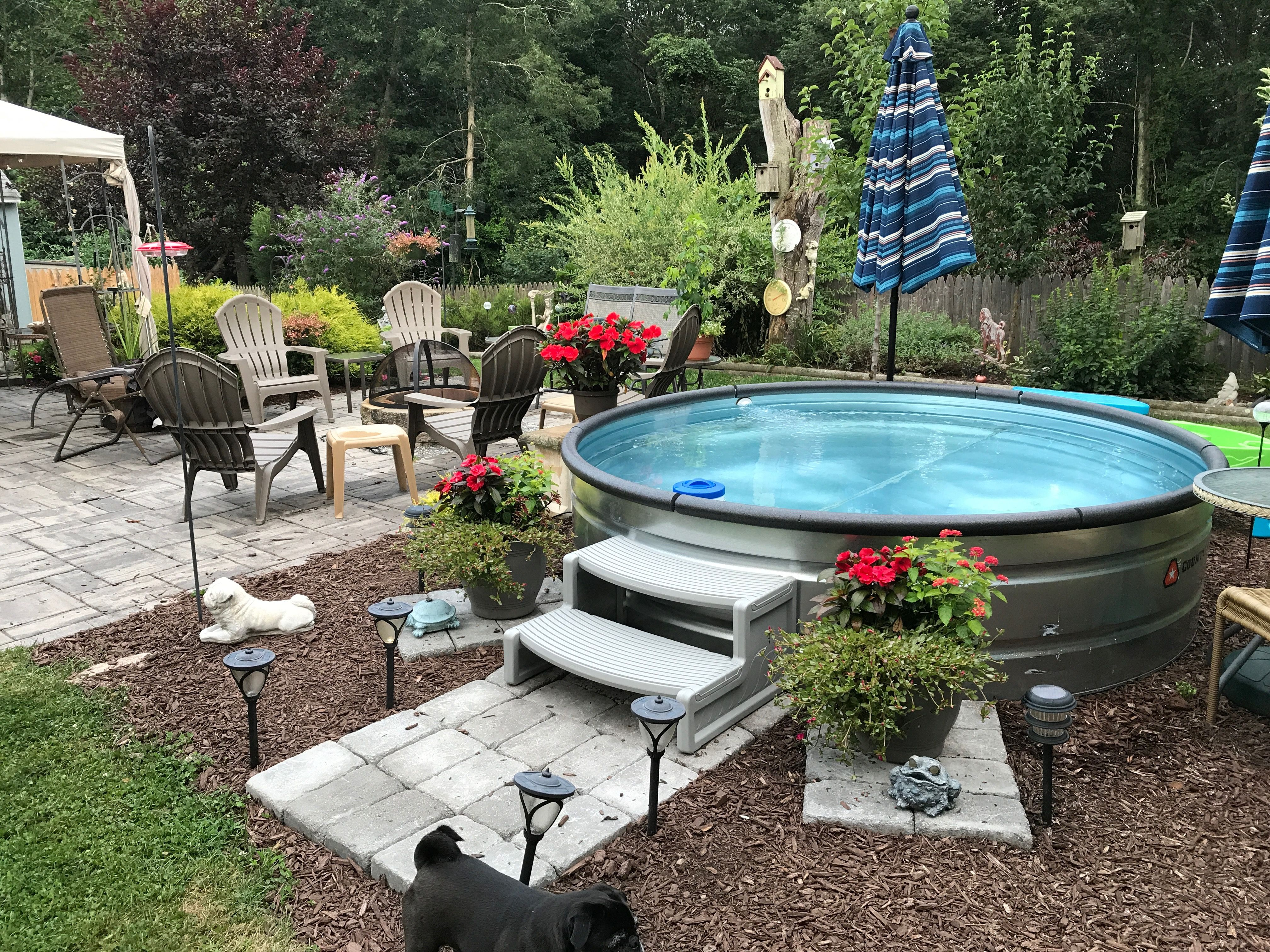 Pin by tira runyon on for the home stock tank pool - Convert swimming pool to rainwater tank ...