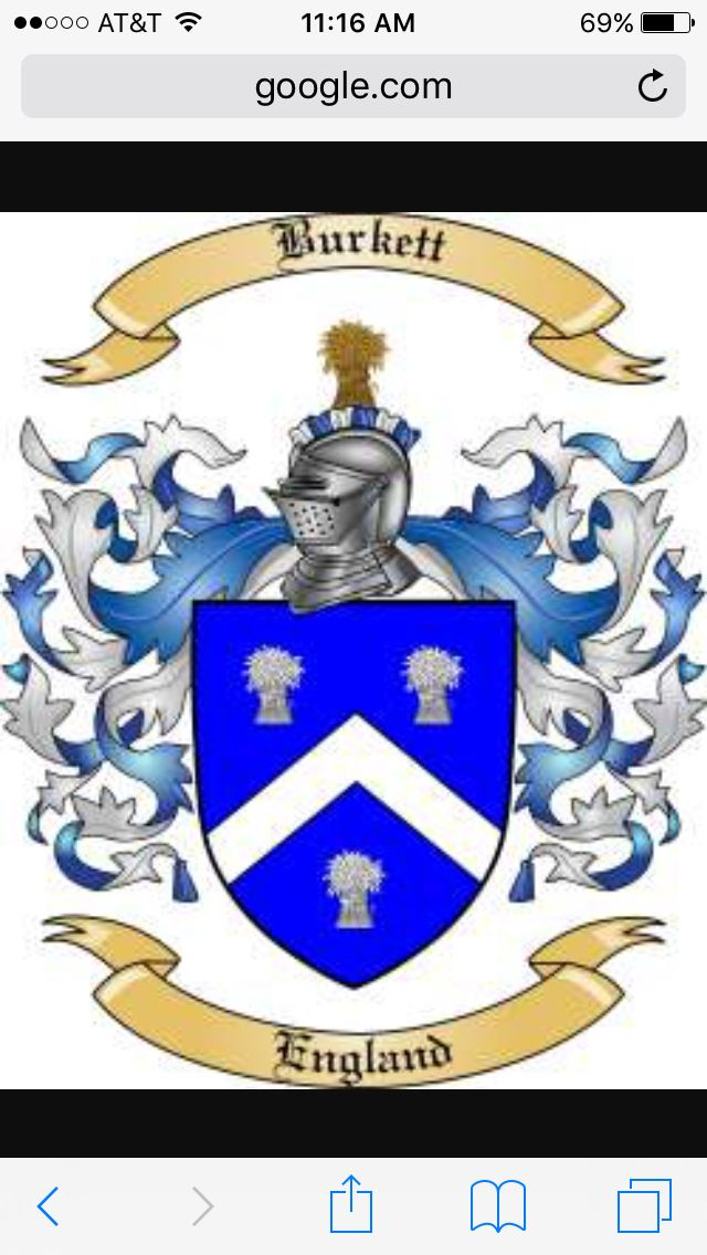 Burkett family coat of arms, just for ideas | Tattoos
