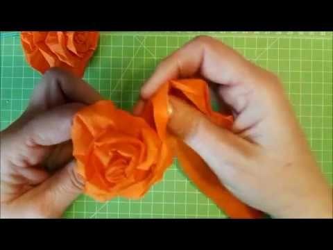 rose aus krepp papier anleitung tutorial basteln blumen video papier. Black Bedroom Furniture Sets. Home Design Ideas