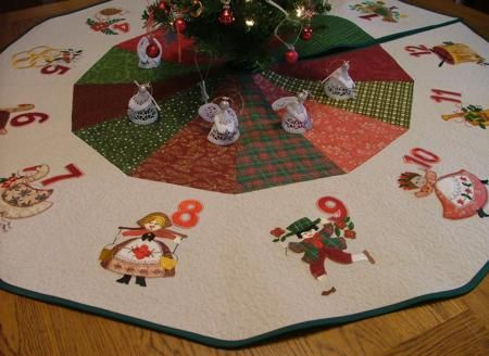 Advanced Embroidery Designs 12 Days Of Christmas Machine Applique Instructions Christmas Applique Designs Christmas Applique Christmas Embroidery Designs