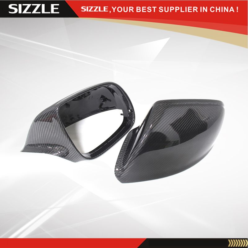 Replacement Style Carbon Fiber Rear View Side Mirror Cover For Audi Q5 Q7 Sq5 2009 Without Lane Assit L Sq5 Side Mirror Audi Q5