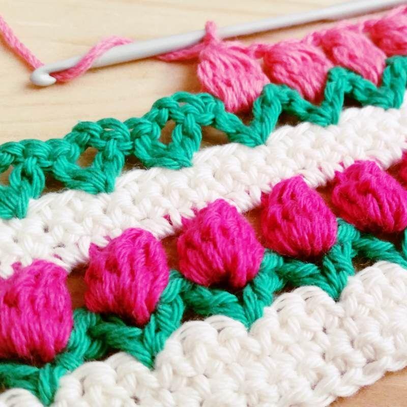 tejer+punto+tulipanes+crochet.jpg (800×800) | Proyectos que intentar ...