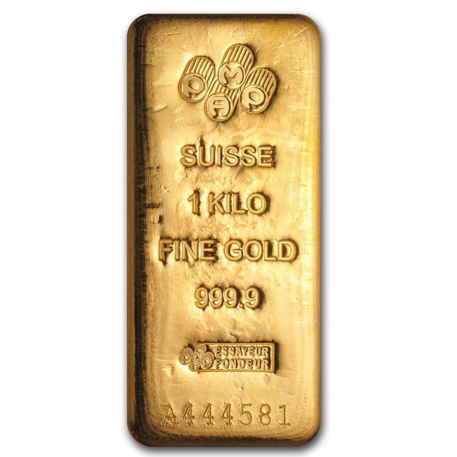 1 Kilo Gold Bar Pamp Suisse Goldinvestment Lingotes De Oro Metales Preciosos Oro Puro