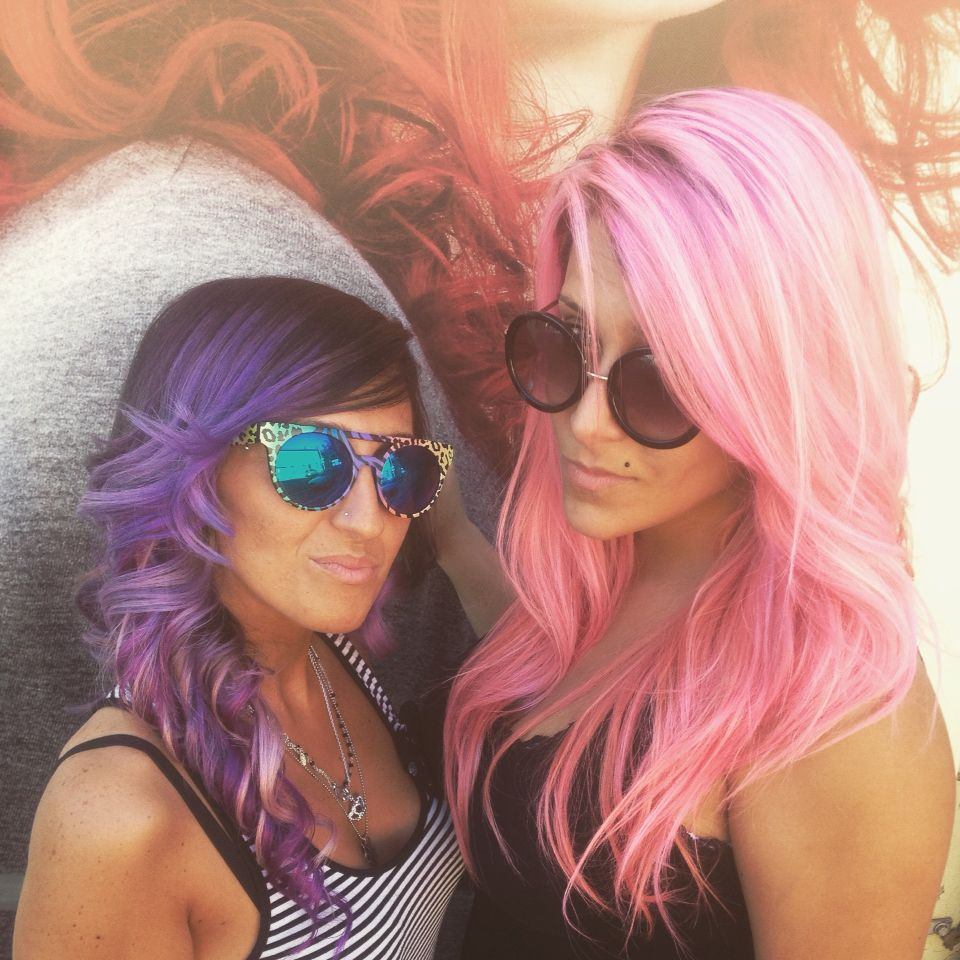 #colorhair #pink#violet #friends #mylove #coloryourlife