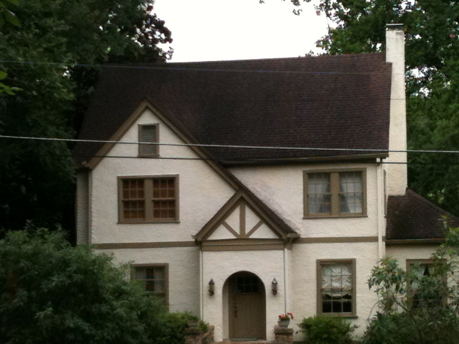 Light brown house with dark brown trim for the home for Paint a dark picture