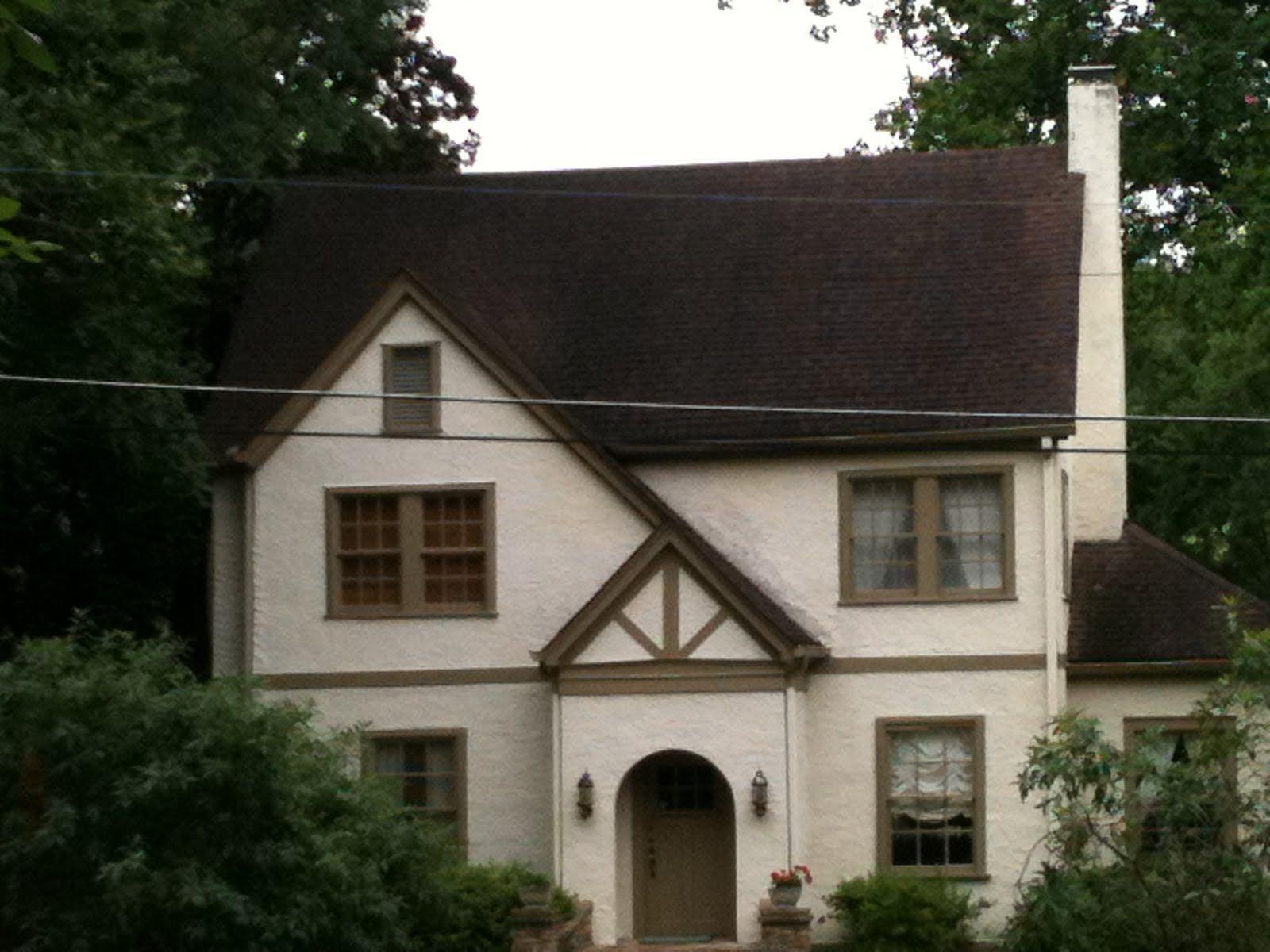Light Brown House With Dark Trim