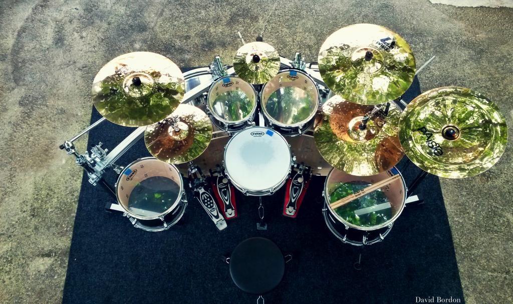 Black Pearl Double Bass Drum Set