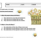 This preparation by Creative Works has the following based on the story of Big Bushy Mustache -  1. Reading Comprehension Quiz - 8 multiple choice ...