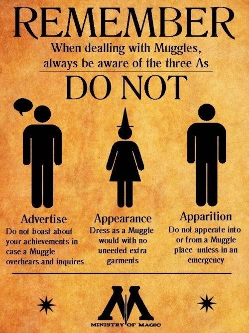 Ministry Of magic warning | Harry Potter | Harry potter