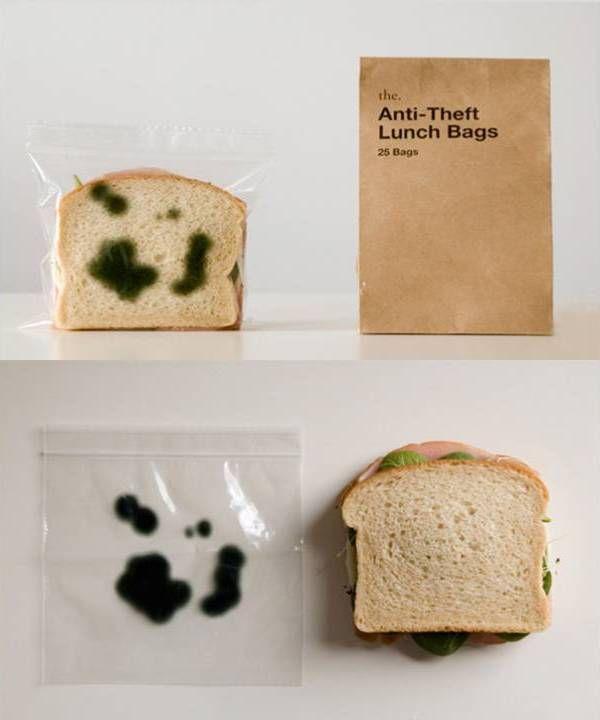 Bolsas antirobo de comida.