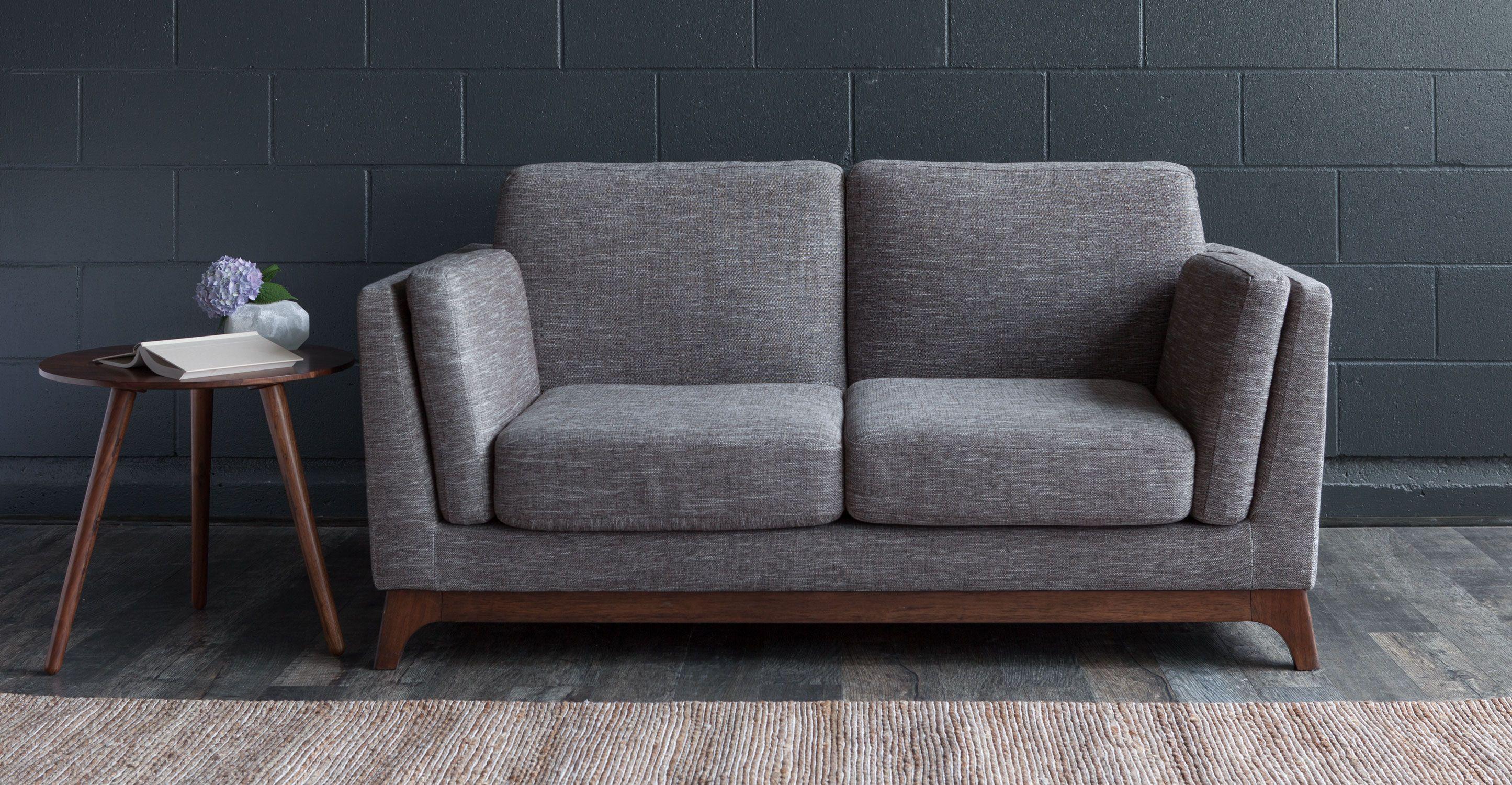 Ceni Volcanic Gray Loveseat Loveseats Article Modern Mid Century And Scandinavian Furniture 799