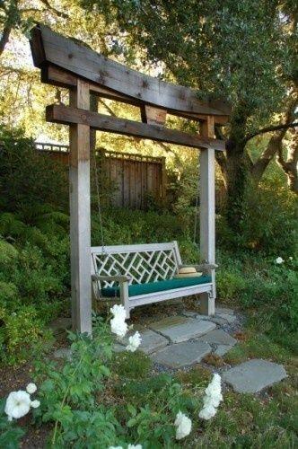 garden swing yards Yards Pinterest Amenagement jardin, Jardins
