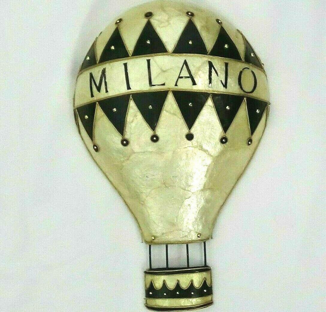 Milano Hot Air Balloon Medium Wall Decoration Ivory Black Gold