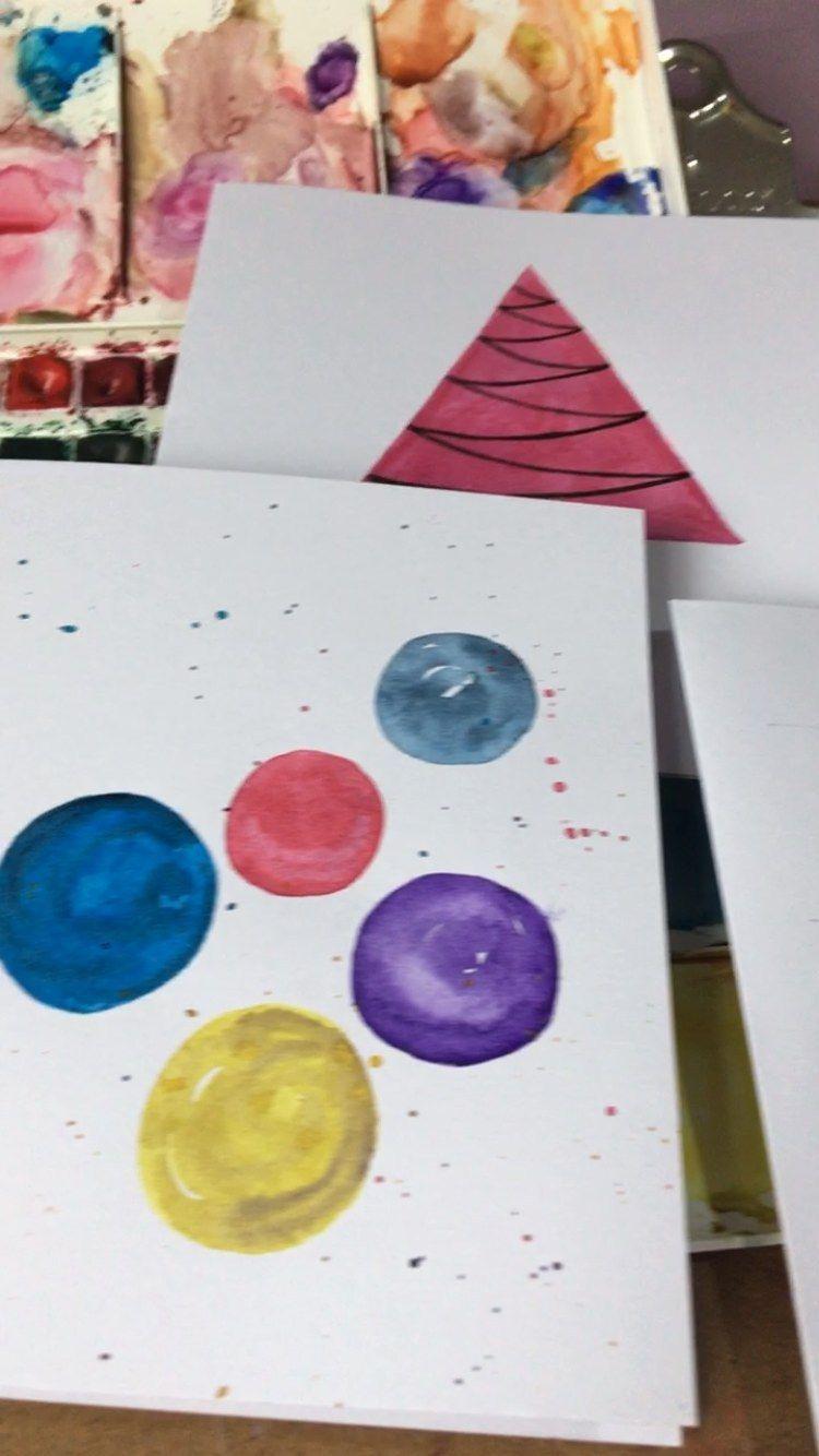 art_by_chanjotkaur on Instagram: 𝗖𝗵𝗿𝗶𝘀𝘁𝗺𝗮𝘀 𝗖𝗮𝗿𝗱𝘀 𝗼𝗻 𝘀𝘄𝗶𝗻𝗴🎉 #handmade #handmadewithlove #handmadegifts #handmadechristmas #inprocess #handmadechristmascards #watercolor…