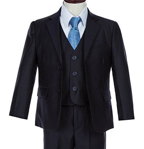 Zuuc Boys 3 Button Formal Dress Suit Set With Vest And Shirt Size 2