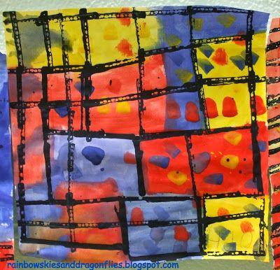 Rainbow Skies & Dragonflies: Primary Colors and Mondrian-Kindergarten and 1st Grade