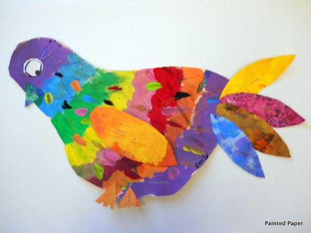 PAINTED PAPER folk art birds, love it!