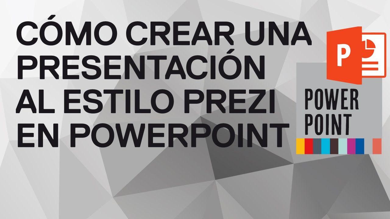 Cómo Crear Una Presentación Al Estilo Prezi En Powerpoint 2010 Powerpoint 2010 Powerpoint Words