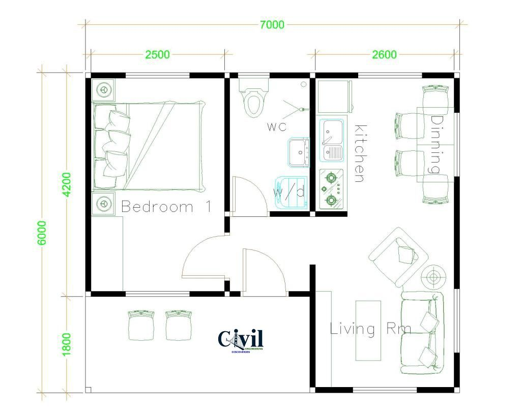 Beautiful Tiny House Plan Ideas For Your Inspiration To See More Read It In 2020 One Bedroom House Gable Roof House Tiny House Plans