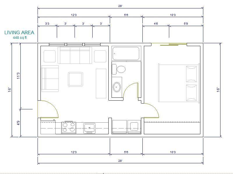 16 X 28 Floor Plans Floor Plans Cabin House Plans House Plans