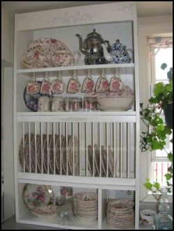 how to build your own plate rack cabinet my kitchen pinterest rh pinterest com