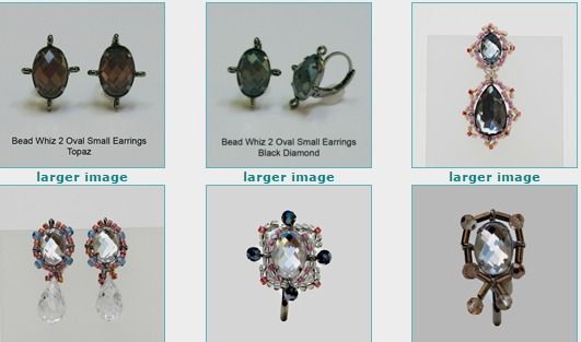 Components such as these earring bases are available which allow you to add beading and other components as you see fit.