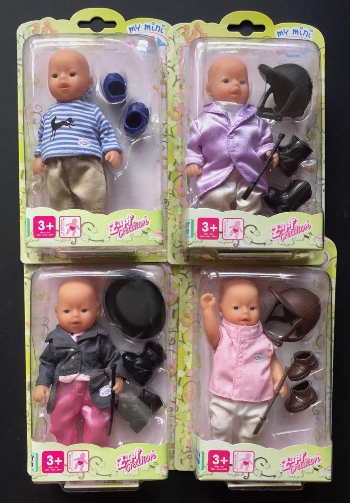 bfdef737c8 Zapf Mini Baby Born Dolls 4 Dolls in Horse Riding Outfits New   Spielzeug,  Puppen & Zubehör, Babypuppen & Zubehör   eBay!