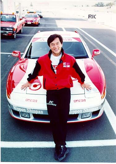 Jackie Chan with one of his race cars | Jackie Chan in ...