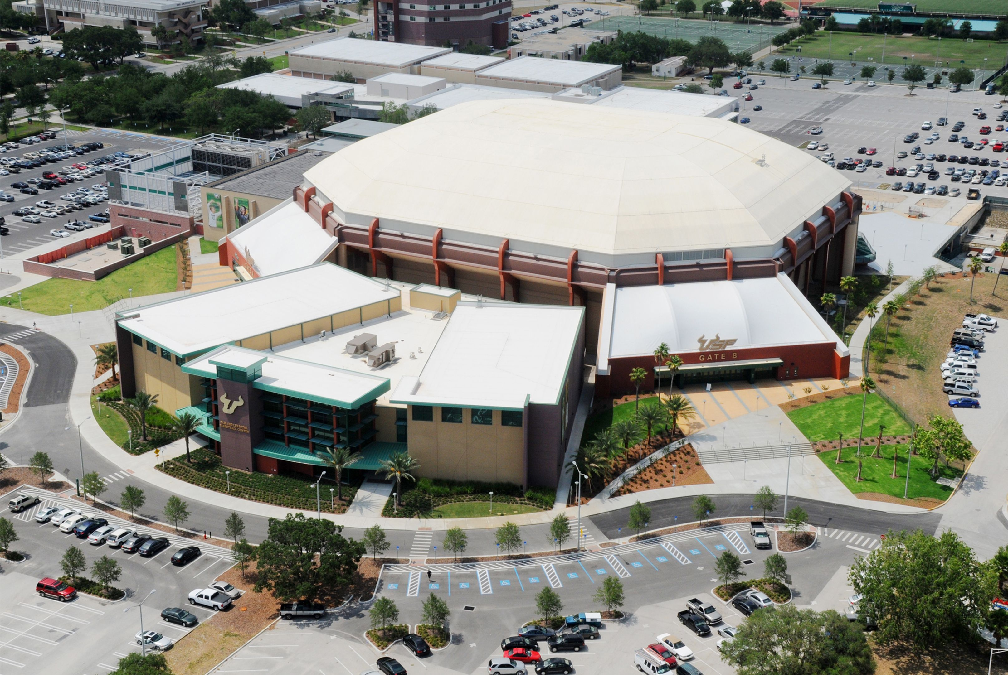 Sun Dome Muma Center Aerial Usf Facilities Pinterest