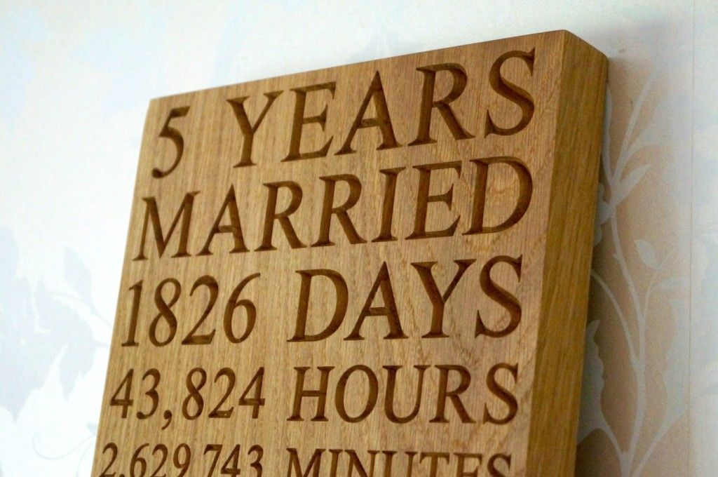 5th anniversary wall plaques make me something special