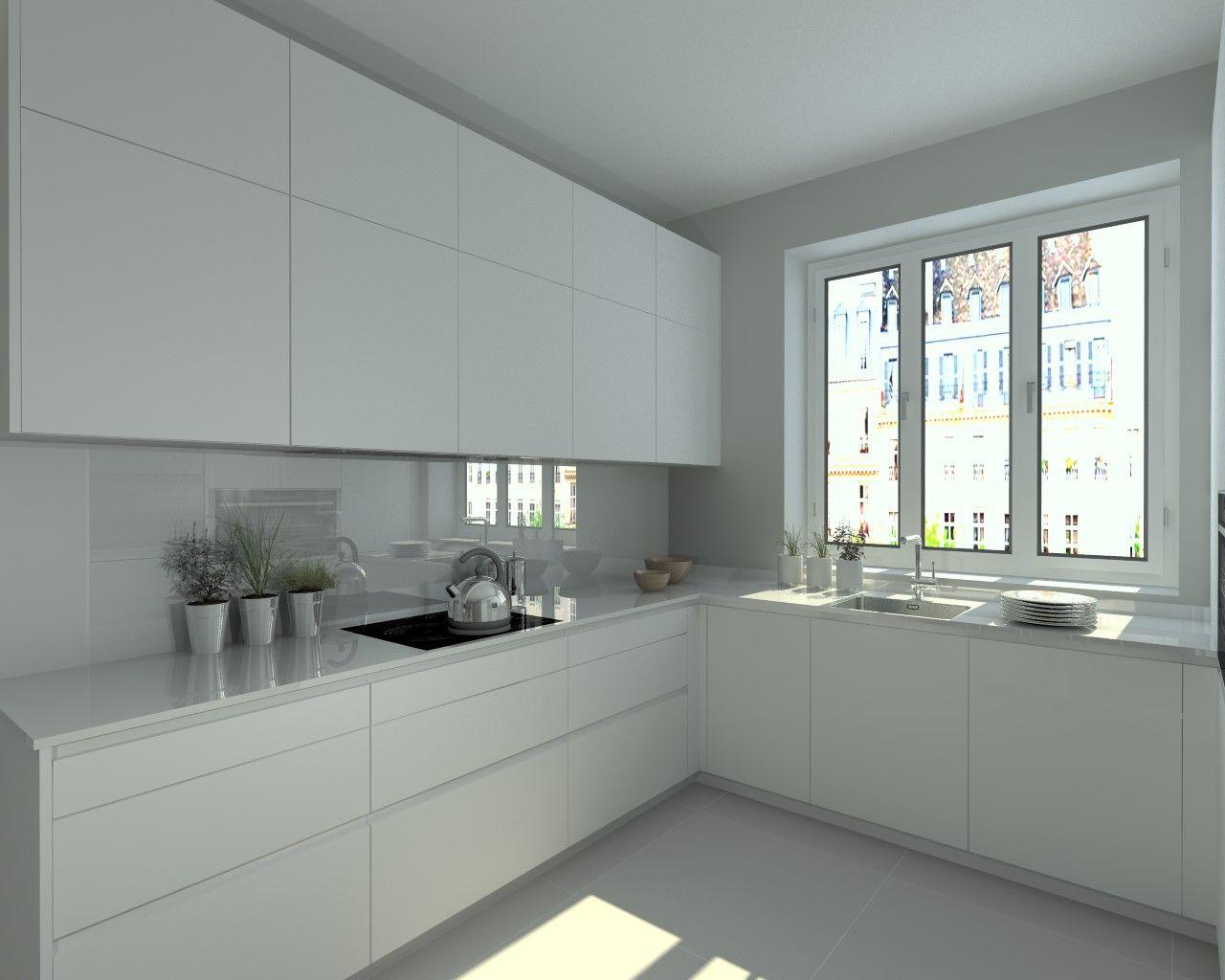 Modelo line e blanco encimera granito cocinas - Encimera granito blanco ...