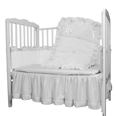 Babydoll Bedding 4 Piece Crib Bedding Set Color White Crib
