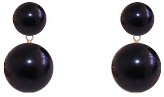 ORA Pearls 14kt Gold Black Duet Pearl Earrings tXjhQdIB