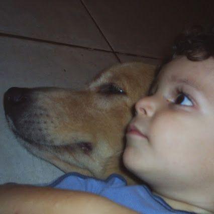 Mi nieto José Miguel con KIRA