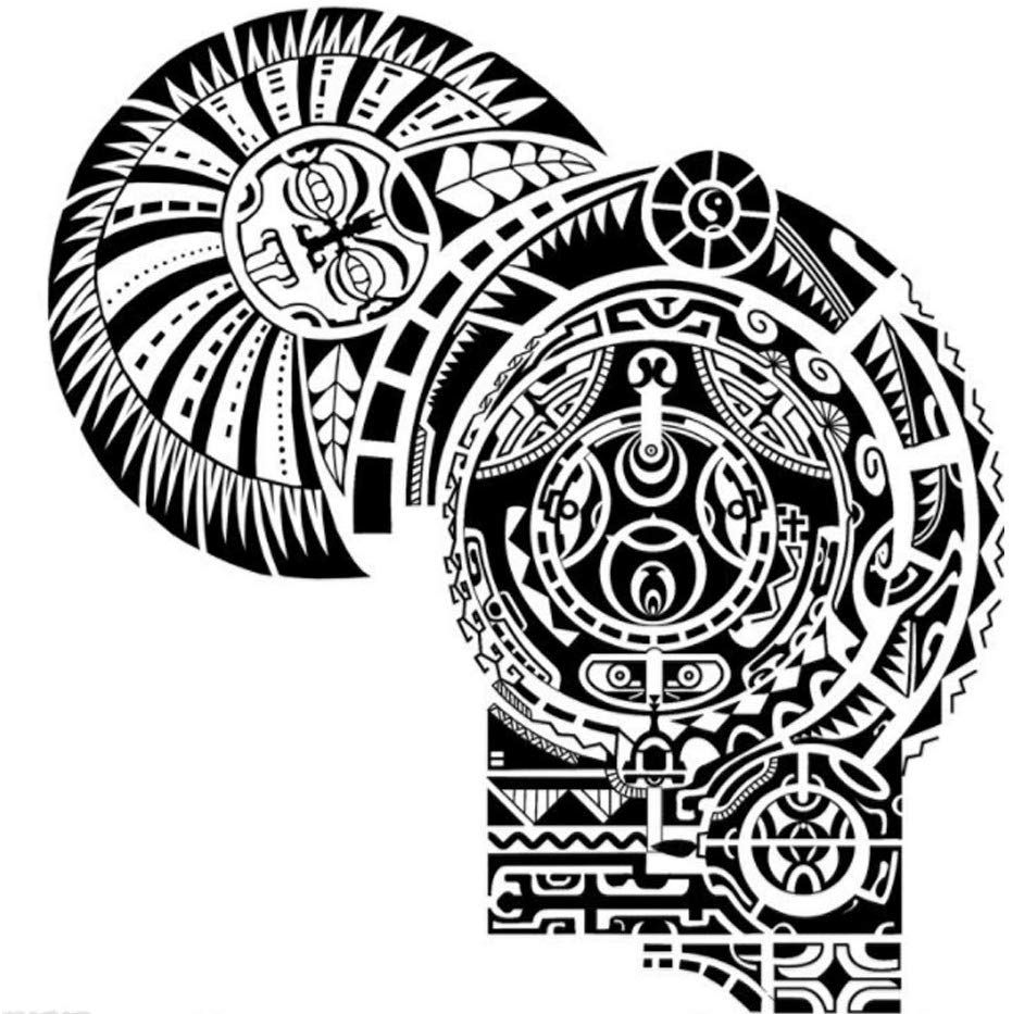 Photo of Amazon.com : YaptheS Large Temporary Tattoos Stickers Waterproof Body Art Tattoos Shoulders and Chest Tattoos Stickers Disposable Domineering Tattoos Stickers 1set Tools Make You Beautiful : Beauty