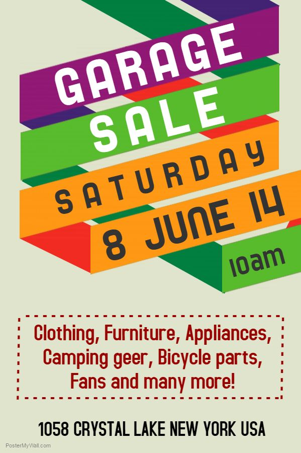 Garage Sale Poster Flyer Social Media Post Template Template