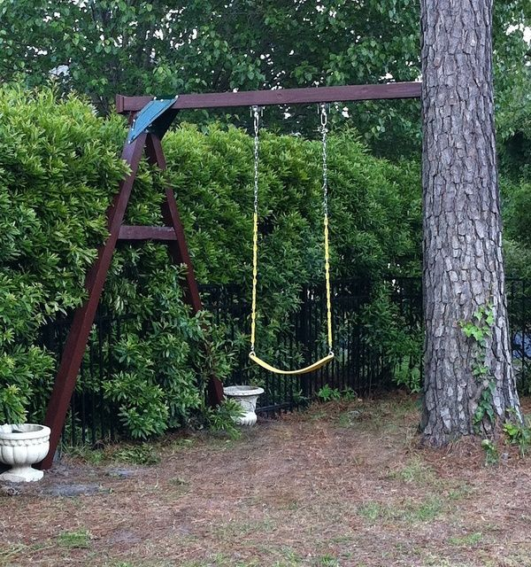 Image Result For How To Attach A Swing To A Tree Trunk Small Backyard Landscaping Large Backyard Landscaping Small Backyard