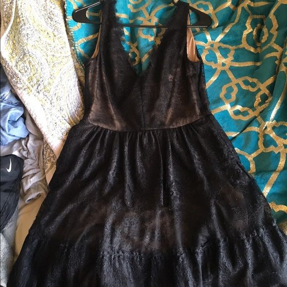BCBG Formal lace dress New with tags. Never got to wear it . BCBG Dresses Midi